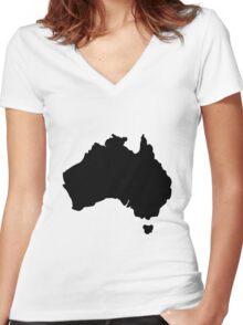 Map of Australia Women's Fitted V-Neck T-Shirt