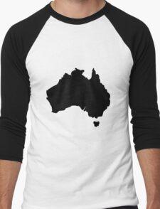 Map of Australia Men's Baseball ¾ T-Shirt