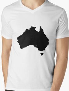 Map of Australia Mens V-Neck T-Shirt