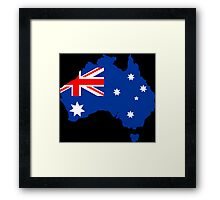 Map of Australia Framed Print