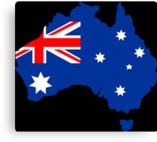 Map of Australia Canvas Print