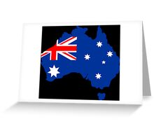 Map of Australia Greeting Card