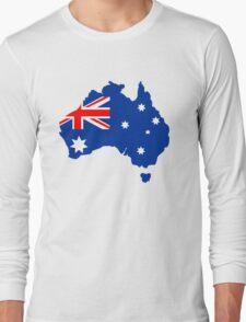 Map of Australia Long Sleeve T-Shirt