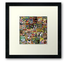 Comic Book Cover Collage Framed Print
