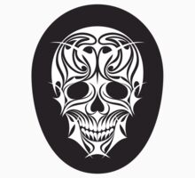 Abstract Scull Illustration - sticker by serkorkin