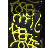 Yellow Graffiti Photographic Print