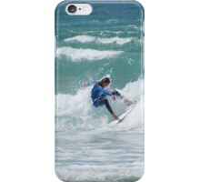 Surfs up at Fistral Beach iPhone Case/Skin