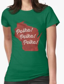 POLKA!! Womens Fitted T-Shirt