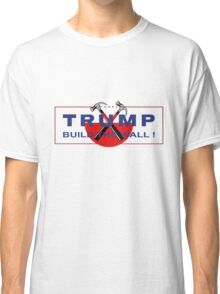 Trump & Pink - Build The Wall! Classic T-Shirt
