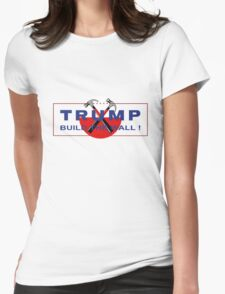 Trump & Pink - Build The Wall! Womens Fitted T-Shirt