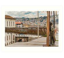 Square at Historic Center of Quito Ecuador Art Print