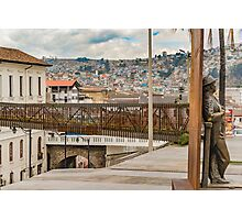 Square at Historic Center of Quito Ecuador Photographic Print