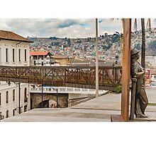 Square at Historic Center of Quito Ecuador Photographic Print