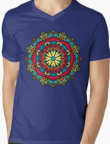 Mandala - Circle Ethnic Ornament Mens V-Neck T-Shirt