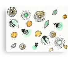 Floral Watercolor Doodles Canvas Print