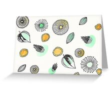 Floral Watercolor Doodles Greeting Card