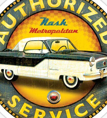 Nash Metropolitan Authorized service Sticker