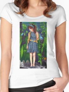 Pisces woman Women's Fitted Scoop T-Shirt