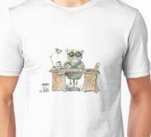 Workaholic owl Unisex T-Shirt