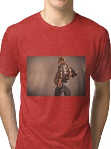 Retro Action Movie Star Tri-blend T-Shirt