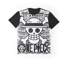 One Piece - Straw Hat Jolly Roger (BW) Graphic T-Shirt