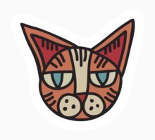 Cat Head Illustration - Sticker 1 by serkorkin