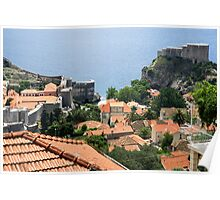 Croatia, Dubrovnik, the Walled Old City Poster