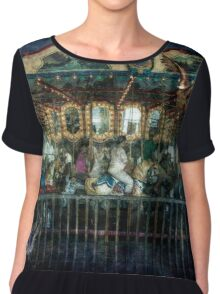 Captive on a Carousel of Time Chiffon Top
