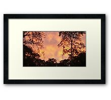 Clouds of Yellow Framed Print