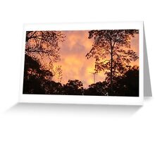 Clouds of Yellow Greeting Card