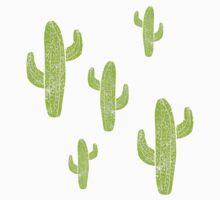 Linocut Cacti Minty Pinky One Piece - Long Sleeve