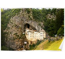 Predjama Castle, a Renaissance castle built within a cave mouth in south-central Slovenia Poster