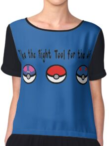 Pika the Right Tool for the Job Chiffon Top