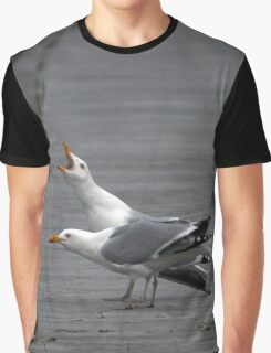 Larus Smithsonianus - American Herring Gulls | Gilgo-Oak Beach-Captree, New York Graphic T-Shirt