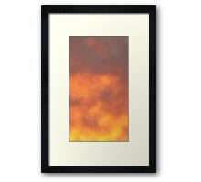 Clouds of Purple Framed Print