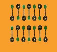 Tropical Pineapple Guitar Pattern Unisex T-Shirt