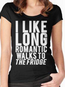 ROMANTIC WALKS TO THE FRIDGE Women's Fitted Scoop T-Shirt