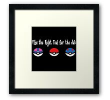 Pika the Right Tool for the Job (White) Framed Print