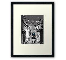 Uphill road Framed Print