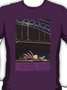 Purple Harbour, coloured sails T-Shirt