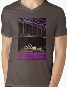 Purple Harbour, coloured sails Mens V-Neck T-Shirt