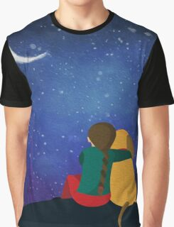 Friendship Under The Stars Graphic T-Shirt