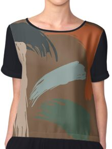 Untitled Abstract Earth Chiffon Top
