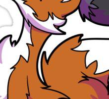 Fox and Raccoon friends Sticker
