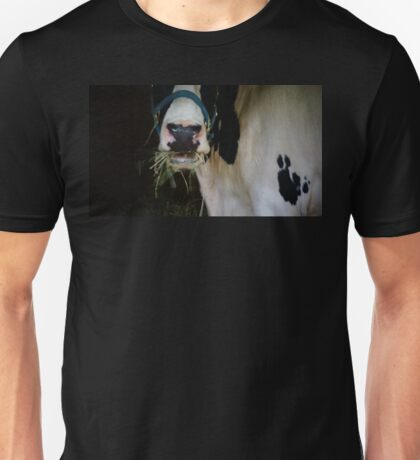 Cow Mouth Chewing Unisex T-Shirt