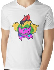 Psychedelvysaur Mens V-Neck T-Shirt