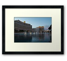Early Evening Water Dance - Bellagio, Las Vegas Framed Print