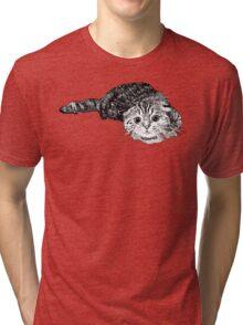 Scared Cat Tri-blend T-Shirt