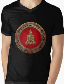 Treasure Trove - Gold Buddha on Black Velvet  Mens V-Neck T-Shirt