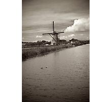Windmill by the Dyke Photographic Print